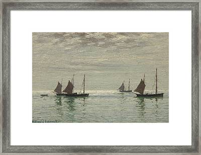 Home On The Morning Tide Framed Print by Reginald Aspinwall