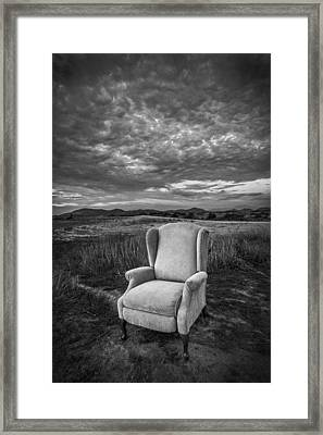 Home On The Range - Black And White Framed Print by Peter Tellone
