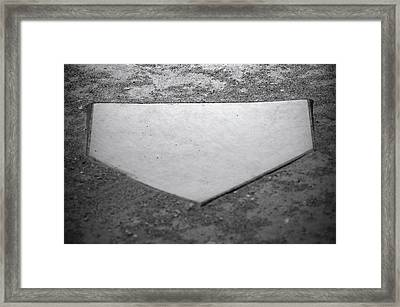 Home Plate Framed Print by Shawn Wood