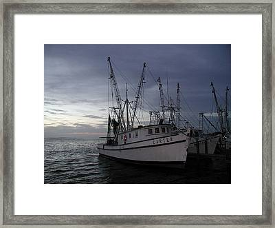 Framed Print featuring the photograph Home Port by Nancy Taylor