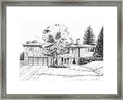 Home Portrait Framed Print