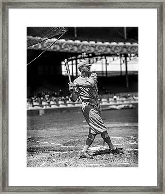 Home Run Babe Ruth Framed Print