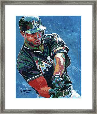 Home Run Framed Print by Maria Arango