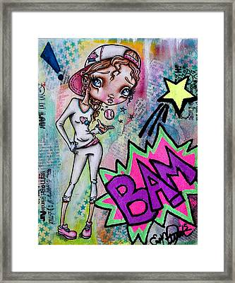 Home Run Sally Framed Print