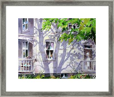 Home Shadows Framed Print by Art Scholz
