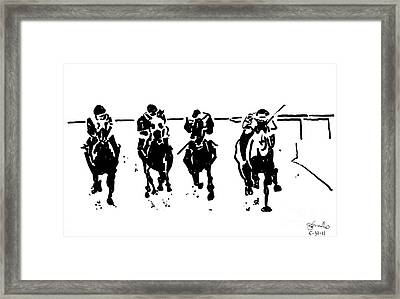 Home Stretch Framed Print by Andrew Cravello