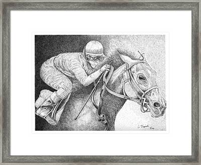 Home Stretch Framed Print