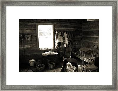 Framed Print featuring the photograph Home Sweet Home Bedroom by Joanne Coyle