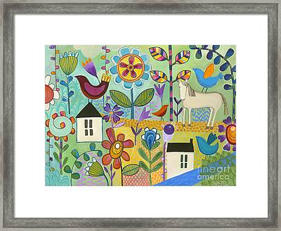 Framed Print featuring the painting Home Sweet Home by Carla Bank
