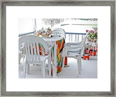 Home Sweet Frozen Home Framed Print by Carol F Austin