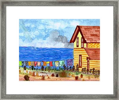 Framed Print featuring the painting Home Sweet Home by Connie Valasco