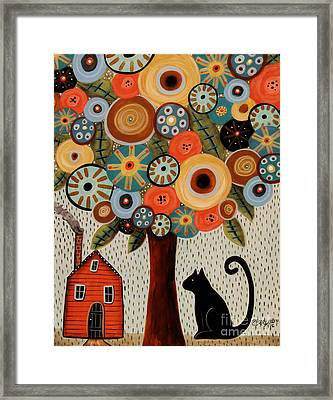 Home Sweet Home Framed Print by Karla Gerard