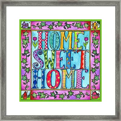 Home Sweet Home Framed Print by Pamela  Corwin