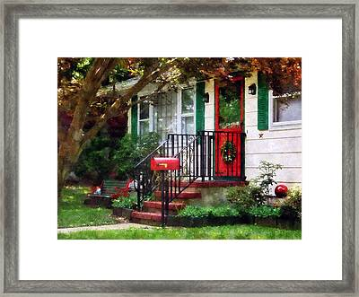 Home That Always Celebrates Christmas Framed Print by Susan Savad