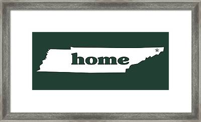 home TN on Green Framed Print by Heather Applegate