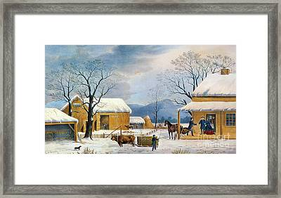 Home To Thanksgiving, 1867 Framed Print by Granger
