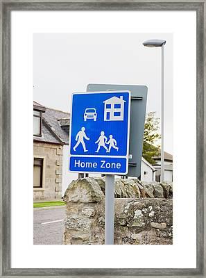 Home Zone Framed Print