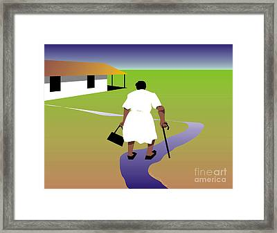 Homecoming Framed Print by Walter Oliver Neal