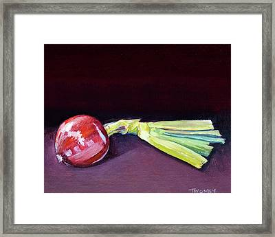 Homegrown Onion, Organic Framed Print by Catherine Twomey
