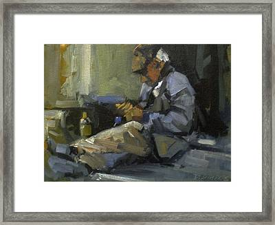 Homeless Framed Print by David Simons