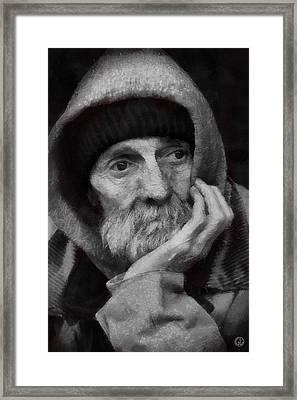 Framed Print featuring the digital art Homeless by Gun Legler