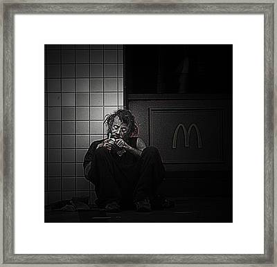 Homeless In Los Angeles Framed Print by LoungeMode Production Art