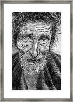 Homeless Mr. Craig Framed Print