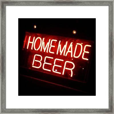 Homemade Beer! Framed Print