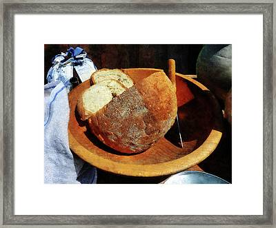 Homemade Bread Framed Print by Susan Savad