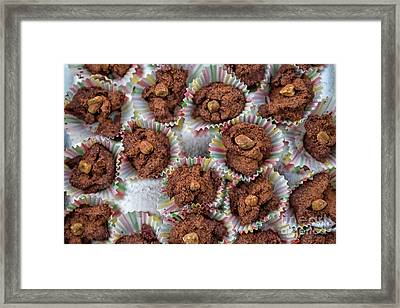 Homemade Chocolate Pralines Framed Print by Patricia Hofmeester