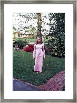 Framed Print featuring the photograph Homemade Dress For Shakespeare Play by Lori Miller