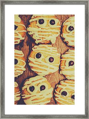Homemade Mummy Cookies Framed Print by Jorgo Photography - Wall Art Gallery