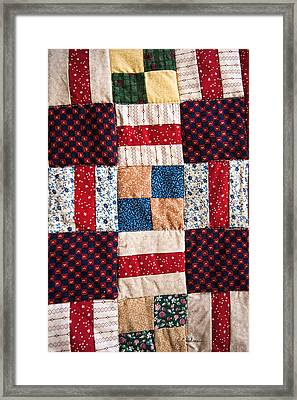 Homemade Quilt Framed Print