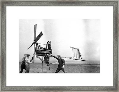 Homemade Wind Powered Electricity Generator 1920's Framed Print by Donald  Erickson