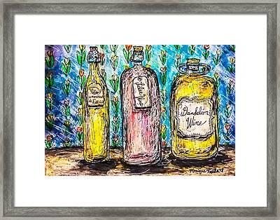 Homemade Wine Framed Print