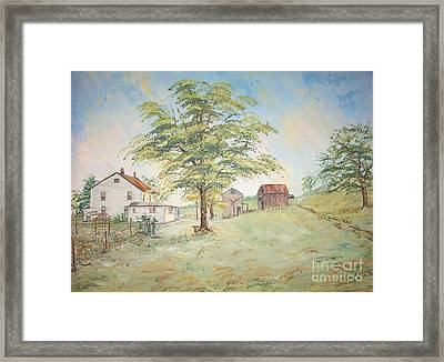 Homeplace - The Farmhouse Framed Print by Judith Espinoza