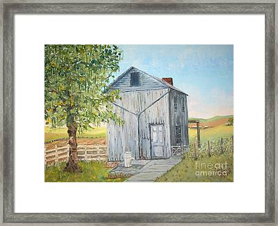Homeplace - The Washhouse Framed Print by Judith Espinoza