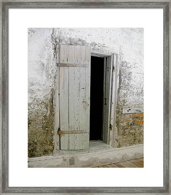 Homeplace Doorway Framed Print