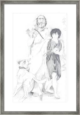 Homer And Glaucus Mount Ida Framed Print