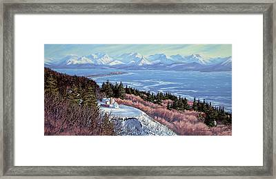 Homer Bluff Framed Print by Kurt Jacobson