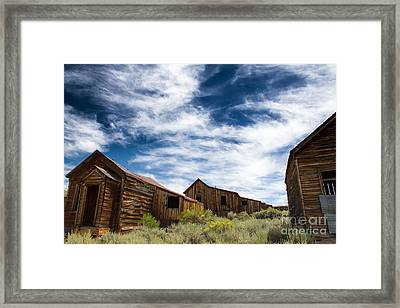 Homes Abandoned In Time Framed Print by Tracey Hunnewell