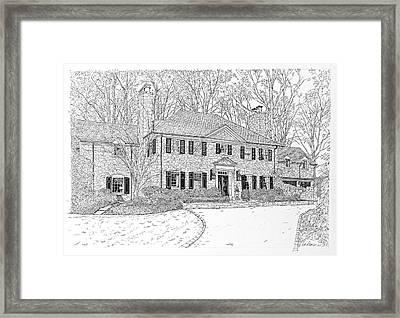 Homes Of Philadelphia's Main Line Framed Print by Ira Shander