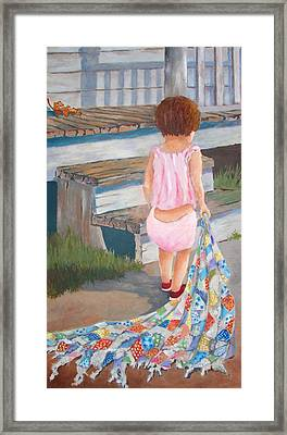 Homespun Annie Framed Print by Tony Caviston