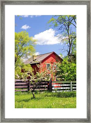 Homestead At Old World Wisconsin Framed Print by Christopher Arndt