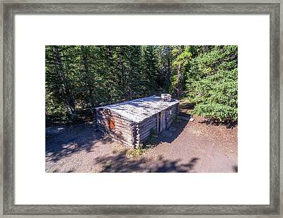 Homestead Cabin Aerial Framed Print