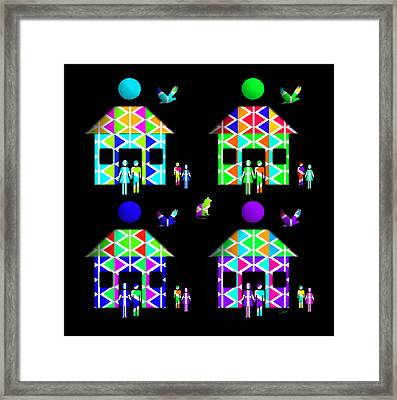 Homestead Happiness Framed Print