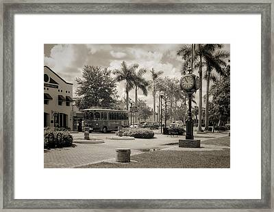 Homestead Town Square Framed Print