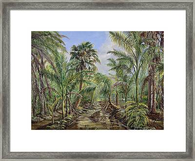 Homestead Tree Farm Framed Print