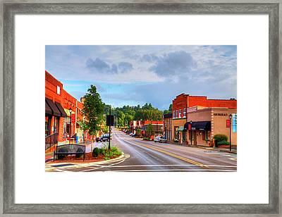 Hometown America Framed Print