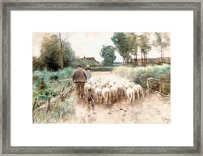 Homeward Bound Framed Print by Anton Mauve